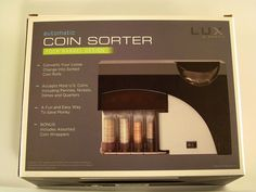Lux Portable Automatic Coin Sorter Four Barrel Design #Lux