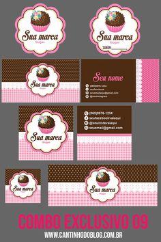 Cake Logo Design, Custom Logo Design, Branding Design, Cake Business, Business Card Mock Up, Baking Packaging, Cupcake Logo, Donut Vector, Cake Illustration