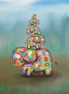 Elephant Jumble by Karin Taylor