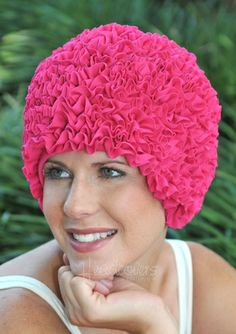 Shop Retro and Vintage inspired swim caps in a fun and funky ruffle design! Find caps in bright and bold colors to pair with your favorite swimwear. Pink Flamingos, Flamingo Pool, Swimming Gear, Shower Cap, Swim Caps, Bad Hair Day, Swimwear Fashion, Vintage Inspired, Bathing