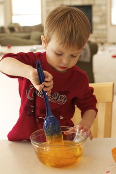 Holly's Arts and Crafts Corner: Toddler Sensory Activity: DIY Slime!