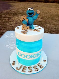 Cookie Monster Cake <3
