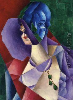 Woman's Head - Jean Metzinger.  Cubism, Puteaux Group, Neo-Impressionism, Fauvism, Divisionism
