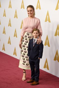 Pictured: Brie Larson and Jacob Tremblay