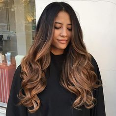 Instagram media by beautybyjoyce - I mean..... Check out her balayage tho!! @daaadaneh hasn't seen me for her color in a year. It's about time we refreshen her long locks for the holidays! Follow me on SnapChat to see all my before and Afters #beautybyjoyce #wssalon #santanarow #balayage