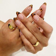 Almond Acrylic Nails, Cute Acrylic Nails, Gel Nails, Fabulous Nails, Perfect Nails, Leopard Print Nails, Pink Cheetah Nails, Funky Nails, Fire Nails