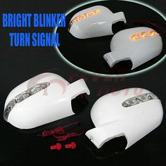 White Side Mirror Cover w/Amber LED Signal For MERCEDES W163 ML320 ML430 97-01FM