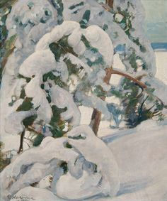 Snowy Pine Tree Painting Snow 37 Ideas For 2019 Tree Frog Tattoos, Oak Tree Tattoo, Pine Tree Painting, Painting Snow, Helene Schjerfbeck, Landscape Art, Landscape Paintings, Nature Paintings, Landscapes