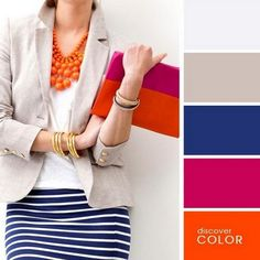 Trends Outfits Color Combos For Spring Colour Combinations Fashion, Color Combinations For Clothes, Fashion Colours, Colorful Fashion, Colour Schemes, Color Trends, Color Combos, Color Palettes, Pantone