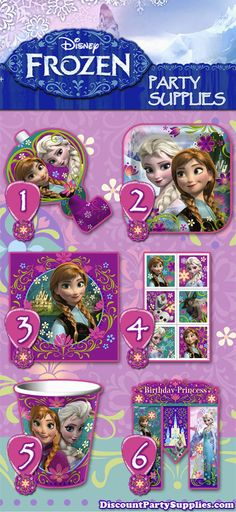 6 Fun Favorites from the Upcoming Frozen Party Supplies Theme! - This theme is set to release in September.