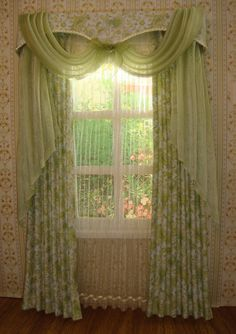 Miniature 1:12 Dollhouse curtains ( on order)