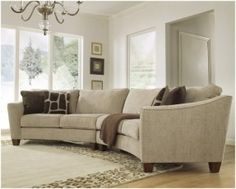 Small Curved Sectional Sofa - Open Travel