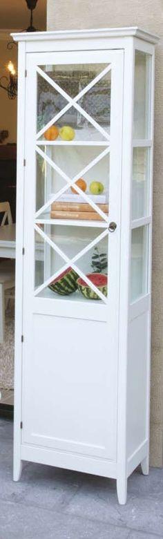 Vitrina con 1 puerta Eneko blanco