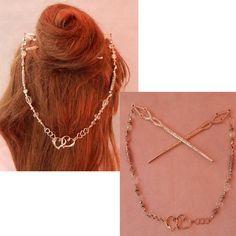 Steampunk Heart, Steampunk Earrings, Heart Jewelry, Heart Earrings, Whimsical Hair, Chopstick Hair, Heart Hair, Hair Beads, Hair Sticks