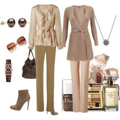 Tea Rose, created by #mrsgena on #polyvore. #fashion #style Hoss Intropia Silvian Heach