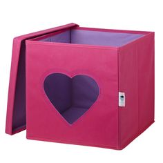Why this toy box? A unique styled toy box with a heart shape window for you to see what inside the box without even open it! The box is colorful pink outside and purple from the inside and will make every room look stylish! Toy Storage Boxes, Kids Storage, Toy Boxes, Storage Chest, The Settlers, Inside The Box, Design Girl, Black Spot, Look In The Mirror