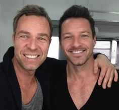 """And last, but not least, a picture of the men from one generation up - Chris Argent, played by JR Bourne, and Peter Hale, played by Ian Bohen. 