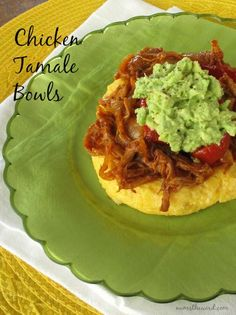 Num's the Word: Don't have time to make tamales? Scared of making tamales? Try these Chicken Tamale Bowls. They are amazing and delicious and on our food rotation! Food Recipe Share and enjoy! I Love Food, Good Food, Yummy Food, Yummy Yummy, Mexican Dishes, Mexican Food Recipes, Food Network Recipes, Cooking Recipes, My Favorite Food