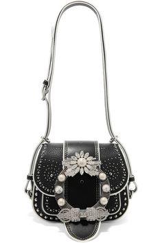 MIU MIU Dahlia embellished leather shoulder bag.  miumiu  bags  shoulder  bags   326930d0d4