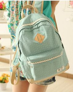 91a754845c907 Cute Women Canvas Backpack School bag For Girl Ladies Teenagers Casual  Travel bags Schoolbag Backpack BS187