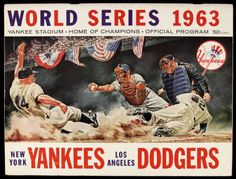 1963 world series   1963 World Series Program - New York Yankees vs. Los Angeles Dodgers ...