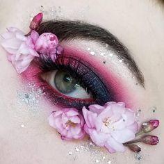 is on fire using Anger Mood Crayon, Atria Flash Crayon & Enchanted Secrets Palette - Exotic Makeup, Colorful Eye Makeup, Flower Makeup, Fairy Makeup, Fairy Fantasy Makeup, Mermaid Makeup, Eye Makeup Designs, Eye Makeup Art, Eyebrow Makeup