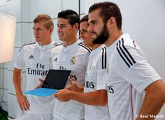 Real Madrid official photograph for the 2014/15 season KROOS, JAMES, Chicharito E Isco