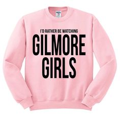 Gilmore Girls Sweater I'd Rather Be Watching by WhiteWolfeDesign