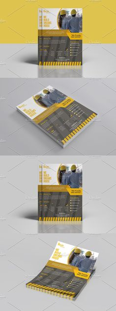 Construction Business, Construction Design, Business Flyer Templates, Corporate Flyer, Photoshop Cs5, The Help, Custom Design, Lettering, Drawing Letters