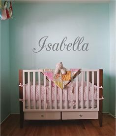 """Personalized Name (script) - Vinyl Art Wall Decal for the Home or Babies Room - 24"""" W x 9.25"""" H by TheVinylCompany on Etsy"""