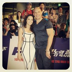 Michelle Rodriguez with Vin Diesel - Fast and Furious 6