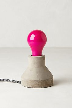 Pink Ceramic Light Bulb