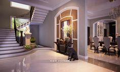 BIỆT THỰ ĐẸP TÂN CỔ ĐIỂN ĐẸP Dream House Exterior, Dream House Plans, Dream Home Design, House Design, Photo Projects, Photography Projects, Exterior Design, Bungalow, New Homes