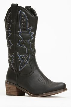 Doll House Faux Leather Cowboy Boots