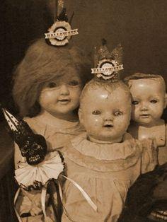 Three little nice sweet dolls.