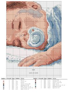Birth sampler Sweat Dreams Baby Boy