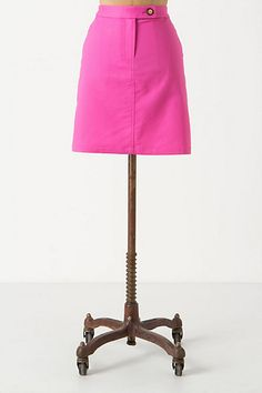 Pickstitched Mini Skirt #anthropologie
