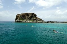 This is Creole Rock, an iconic natural symbol of French St. Martin and one of the most popular snorkeling spots around the island.