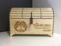Holz Truhe Kiste - Baum des Lebens Schmuck Geschenk Hochzeit Taufe Geburtstag Geldgeschenk Gutschein Diy And Crafts, Decorative Boxes, Etsy, Home Decor, Treasure Chest, Tree Of Life, First Communion, Jewelry Gifts, Gift Wedding