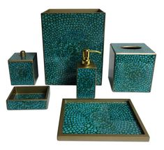 Perfect Brown Bathroom Accessories : 6 Charming Turquoise Bathroom Accessories |  Detroitgreenmap.org
