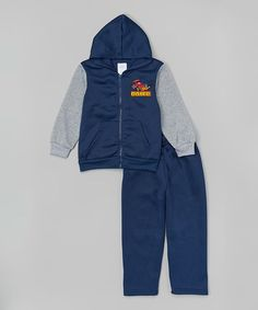 Look at this #zulilyfind! Navy 'Racer' Zip-Up Hoodie & Pants - Infant & Toddler by Teddy Boom #zulilyfinds