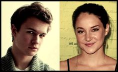 Hazel (Shailene Woodley) and Augustus (Ansel Elgort), the actors casted for The Fault in Our Stars by John Green