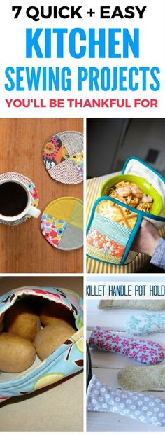 7 Great Kitchen Sewing Projects You'll Absolutely Love. Easy to follow sewing tutorials specially designed for the home and kitchen. Simple kitchen sewing projects that are good enough to even gift someone!