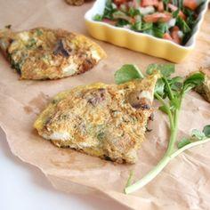 Watercress& Eggplant Frittata