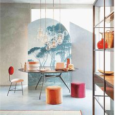 In love with this scene! Bolle composition featured on @livingcorriere Kitchen Design Issue! #giopatocoombes #handblownglass #wehavethisthingwithlight #colors #collectibledesign #decor