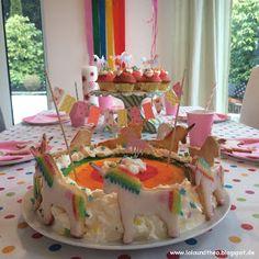 Einhorngeburtstag Regenbogengeburtstag Einhornkuchen Regenbogenkuchen