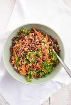 Scandi Home: Adzuki Beans with Millet and Kale