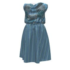 Colette Patterns Myrtle Dress made with Spoonflower designs on Sprout Patterns. Boho Blues, by chinaberries_studio combines with a lovely Bella Nina pinstripe by maryyx to create a tranquil and mellow statement for singin' the blues.
