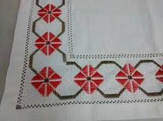 Resultado de imagen para ponto reto - toalhabordado bargello o florentino