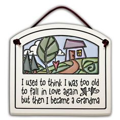 Grandma Love Plaque  The love of a grandmother is very special. Celebrate it with this lovely painted clay plaque. This is a perfect gift for a new grandma or a grandma who's welcoming another bundle of joy into her heart.